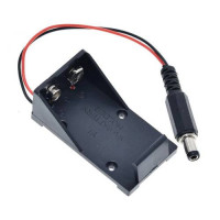 9V Battery Holder Box Case Wire with Plug 5.5*2.1mm