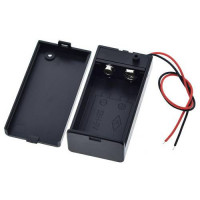 9V Battery Storage Case Plastic Box Holder With Leads ON/OFF Switch