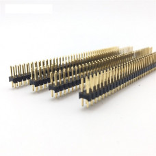 Double Row Male 2X20 Copper Pin Header Strip Gold Plated
