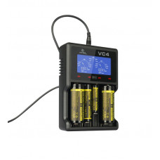 Charger for Li-ion cylindrical batteries and NiMH Xtar VC4