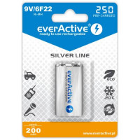 Rechargeable everActive 6F22/9V Ni-MH 250 mAh