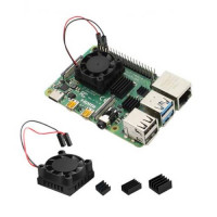 Fan with Heatsink Cooler Kit For Raspberry Pi 4B
