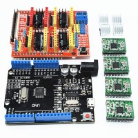 CNC Shield + 4 x A4988 Stepper Motor Driver with Heat Sink + UNO R3